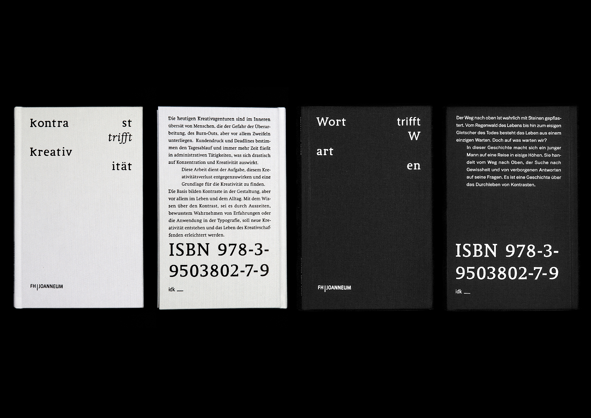 Daniel-Stuhlpfarrer_Visual-Communication_Graphic-Design_Kontrast-trifft-Kreativitaet-Wort-trifft-Warten-1-Books-Cover