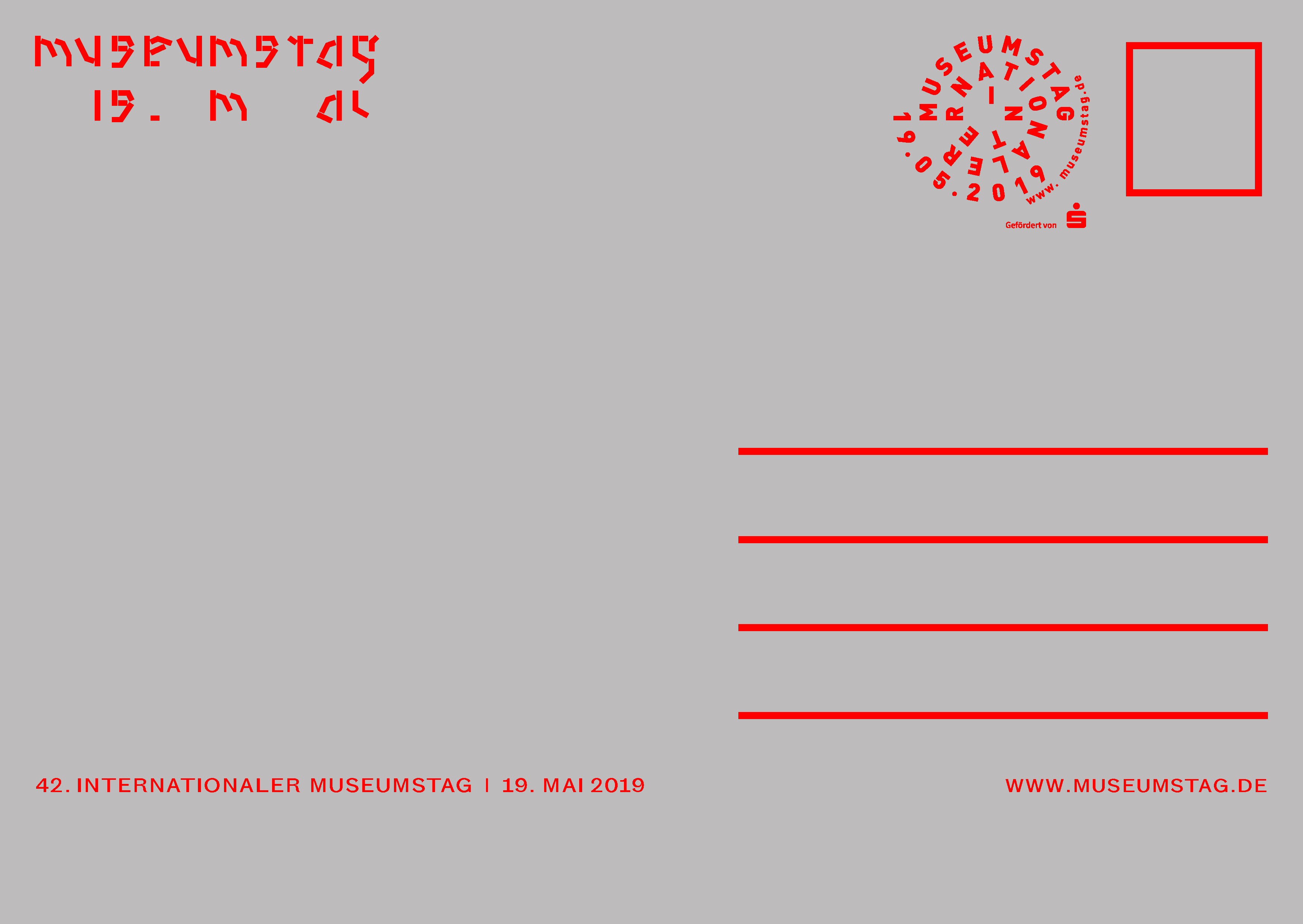 Internationaler Museumstag 2019 Postcard Back