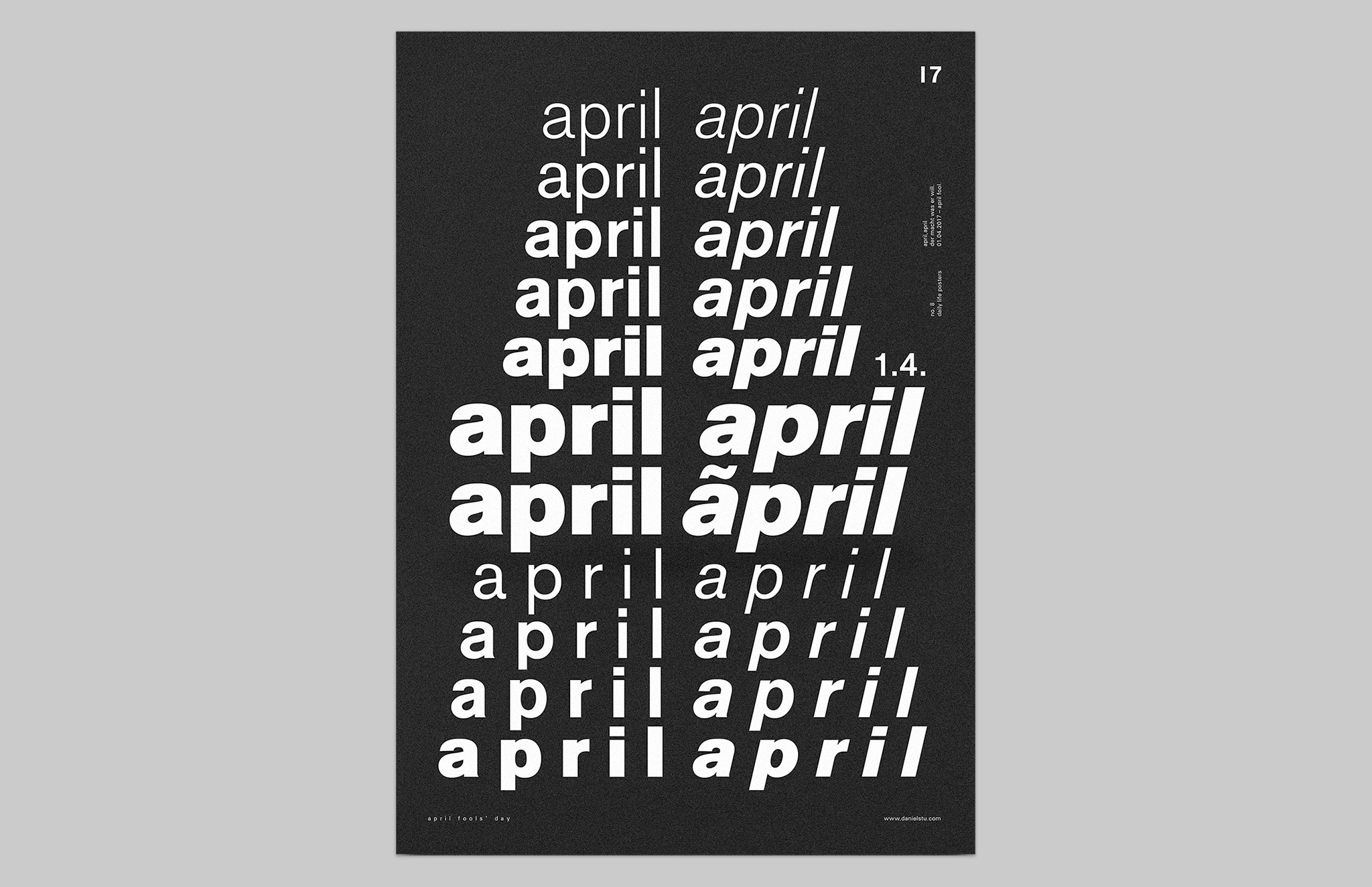 Daniel-Stuhlpfarrer_Visual-Communication_Graphic-Design_Poster_April-April_Overview