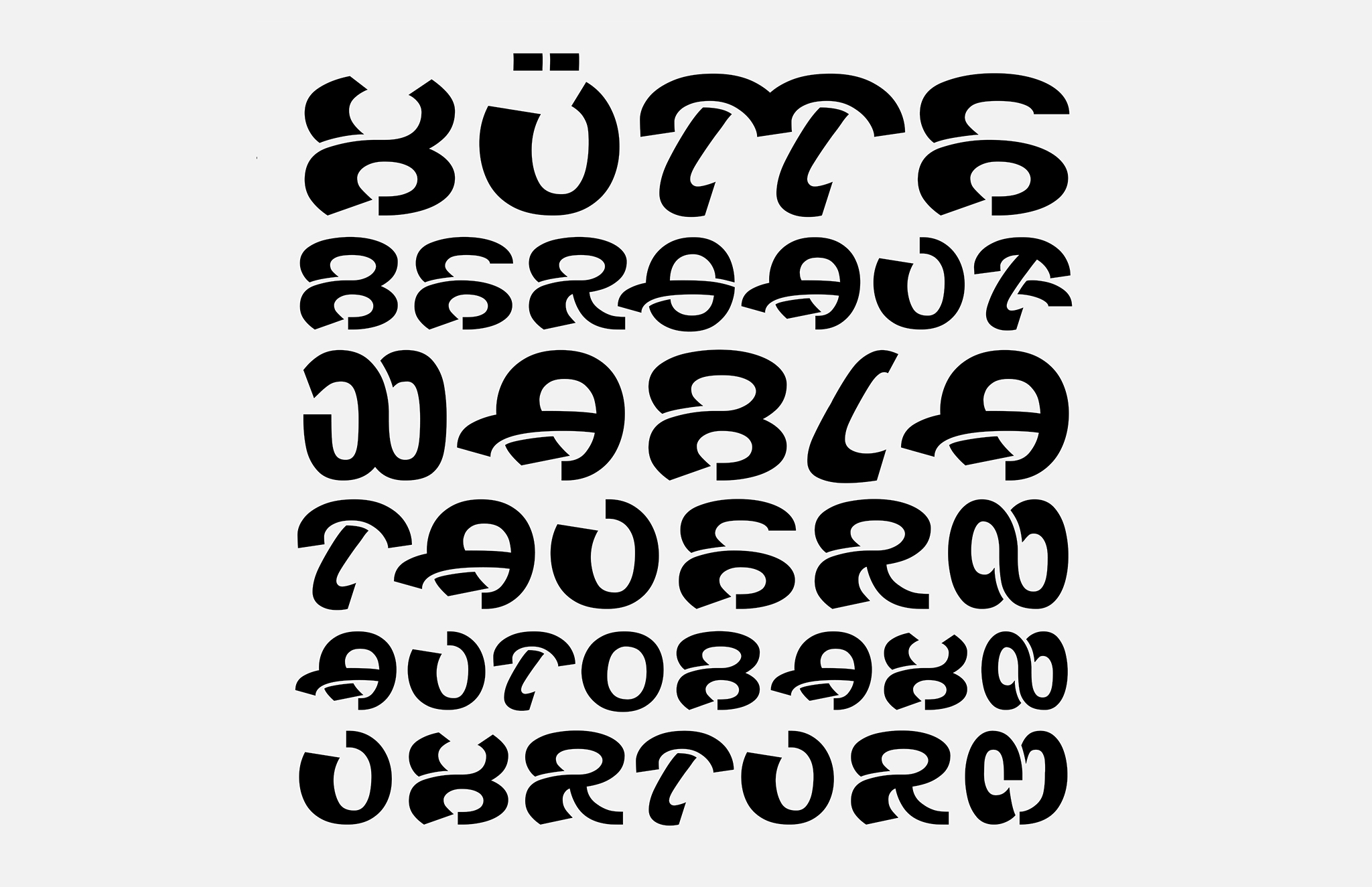 Wabla Typeface Black Text