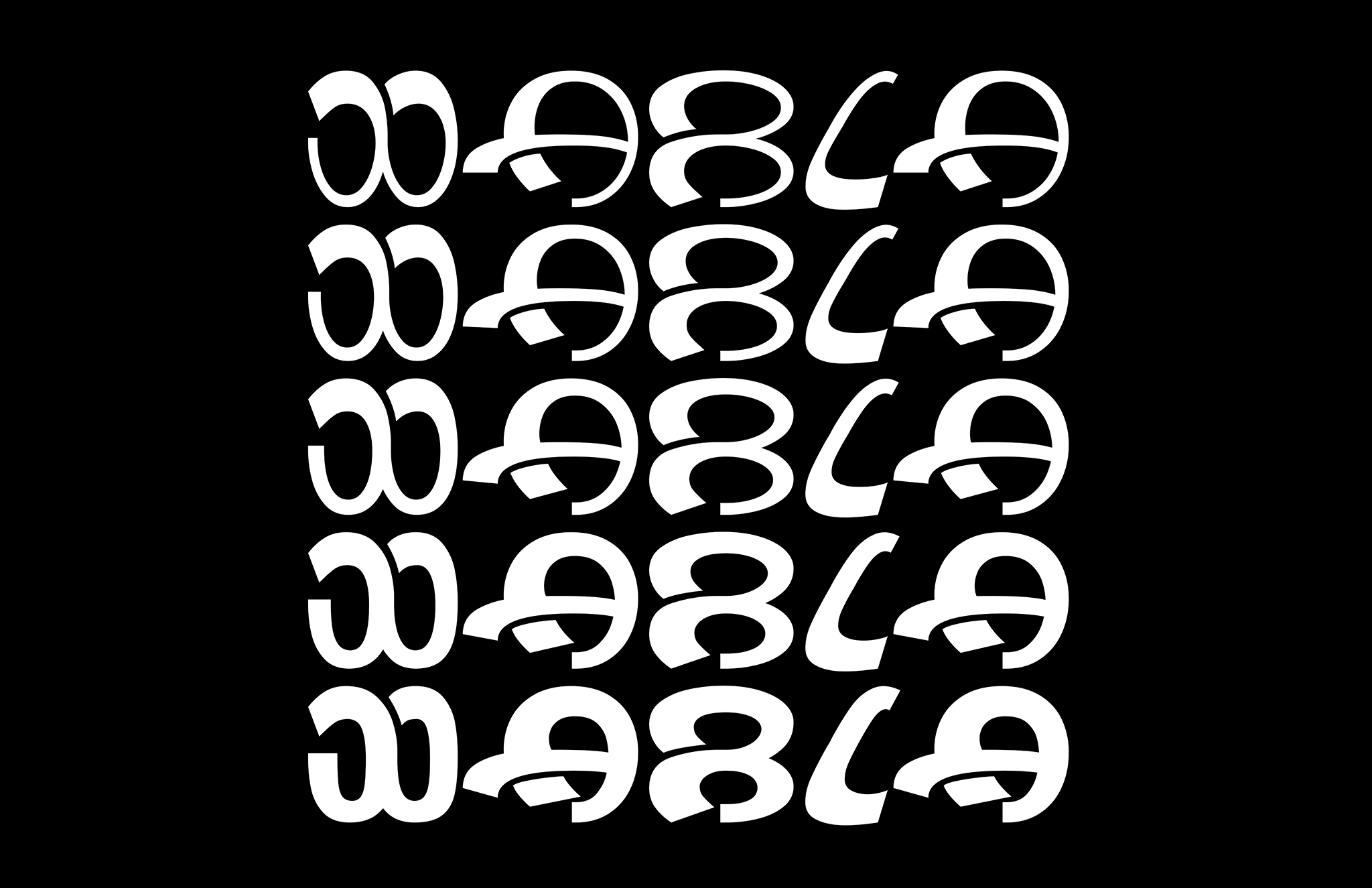 Wabla Typeface All Weights