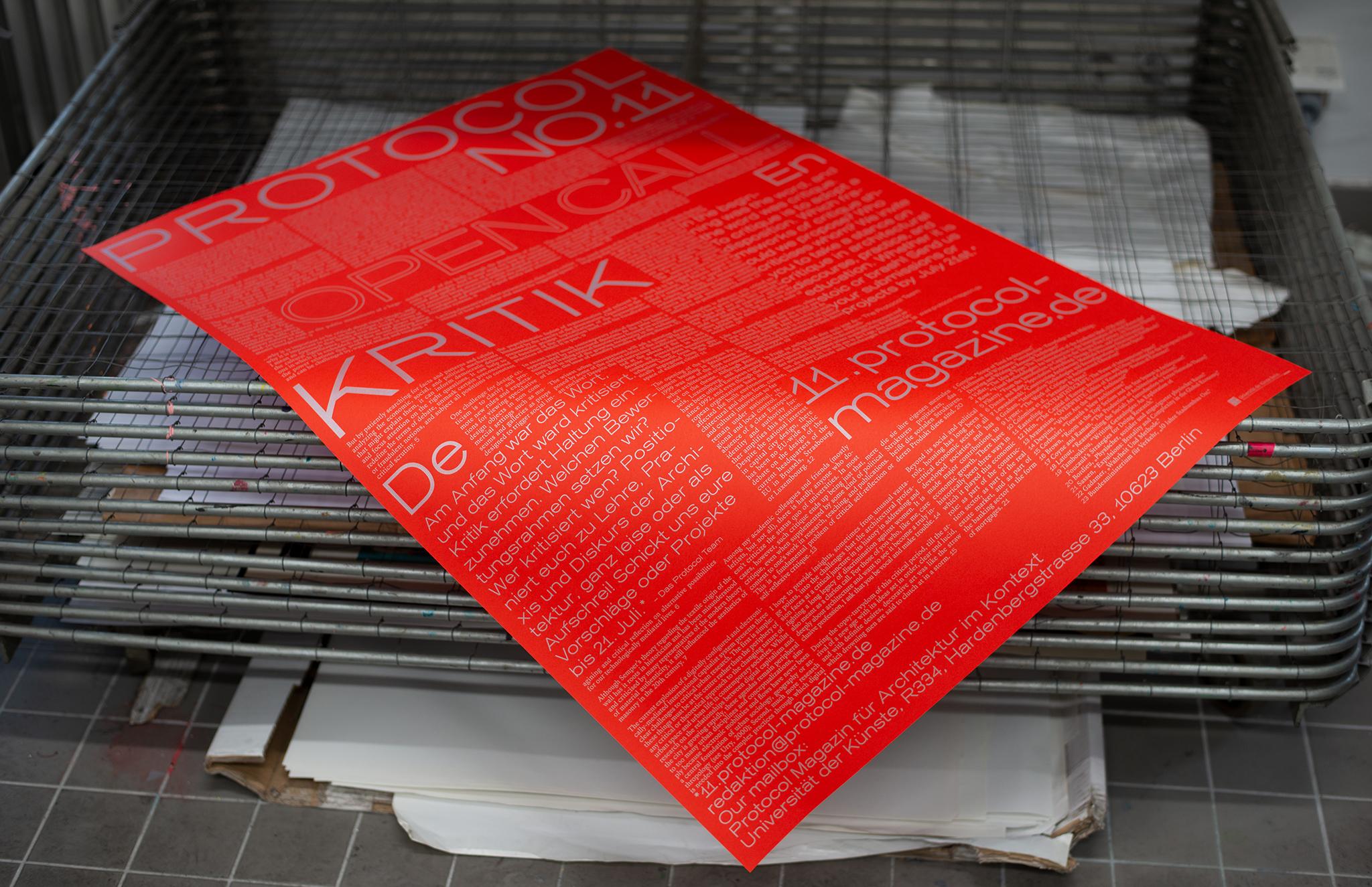 Protocol 11 Magazin für Architektur im Kontext Open Call Poster