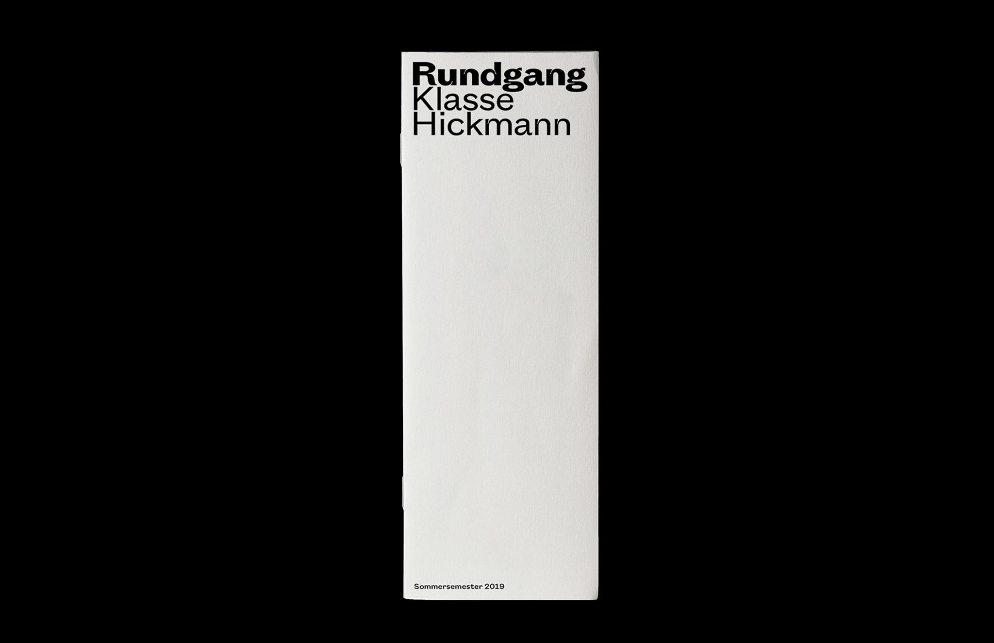 Rundgang Folder UdK Berlin Summersemester 2019 Cover