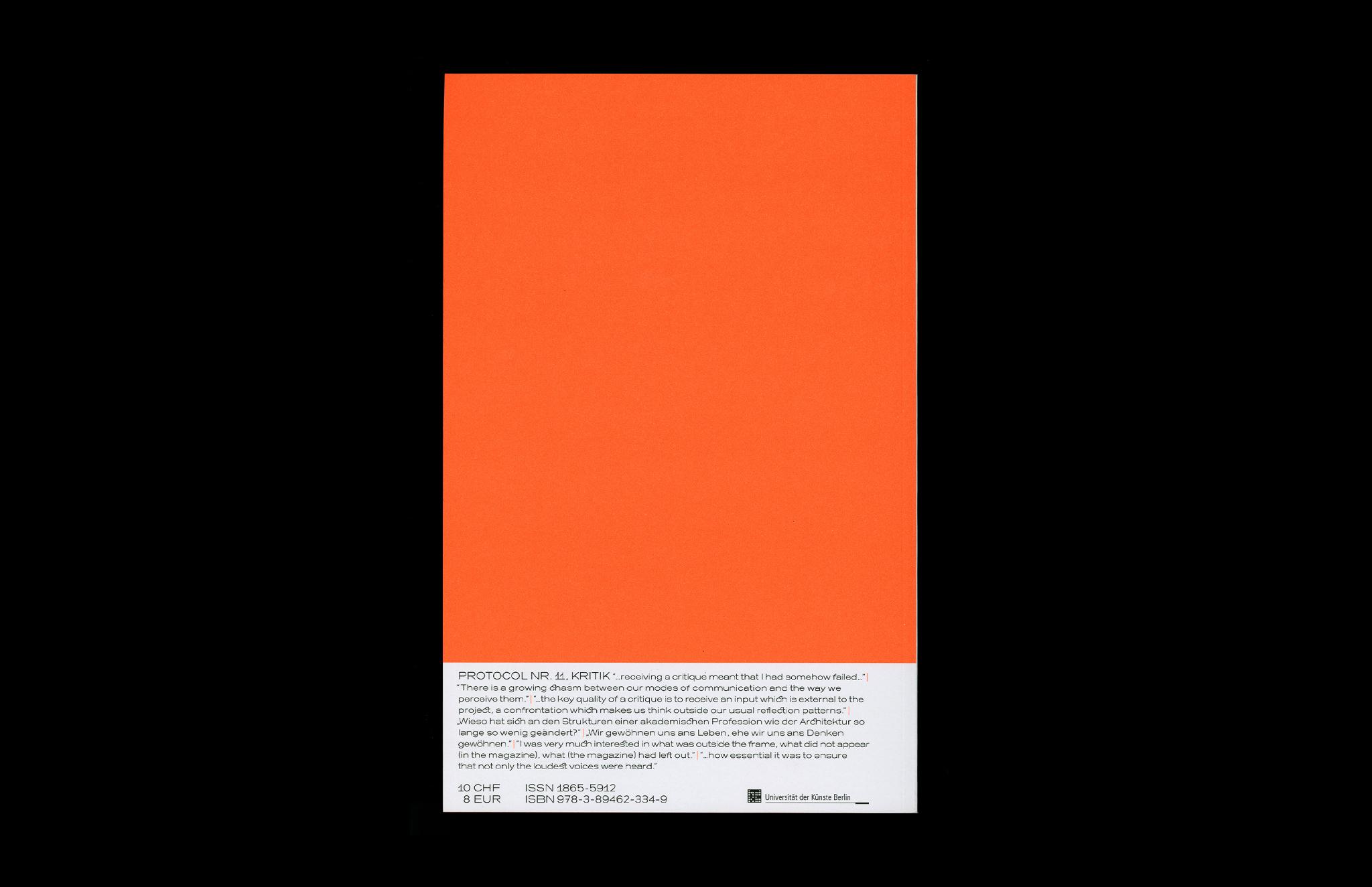 Protocol Nr.11 – Magazin für Architektur im Kontext Back