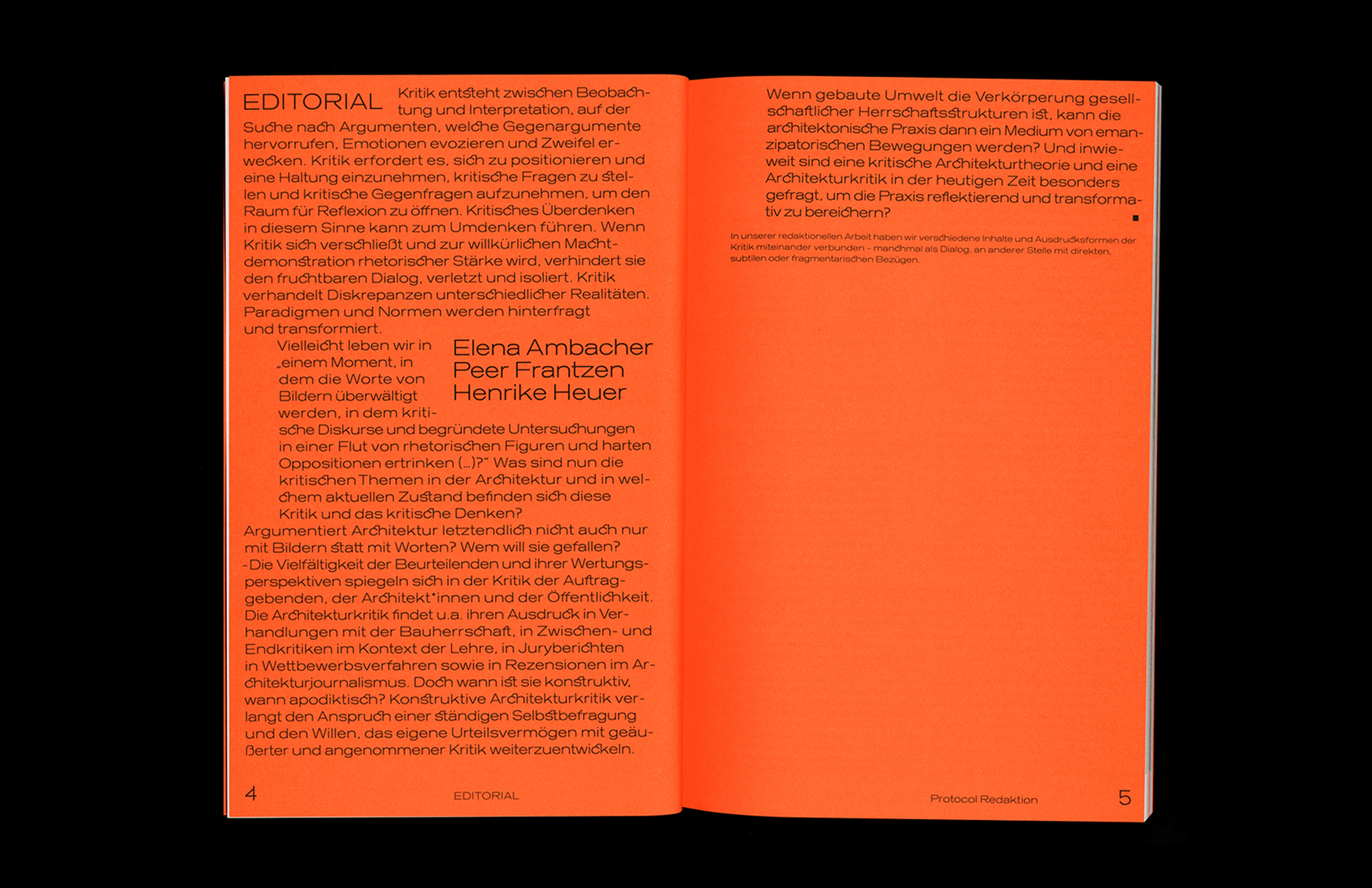 Protocol Nr.11 – Magazin für Architektur im Kontext Editorial