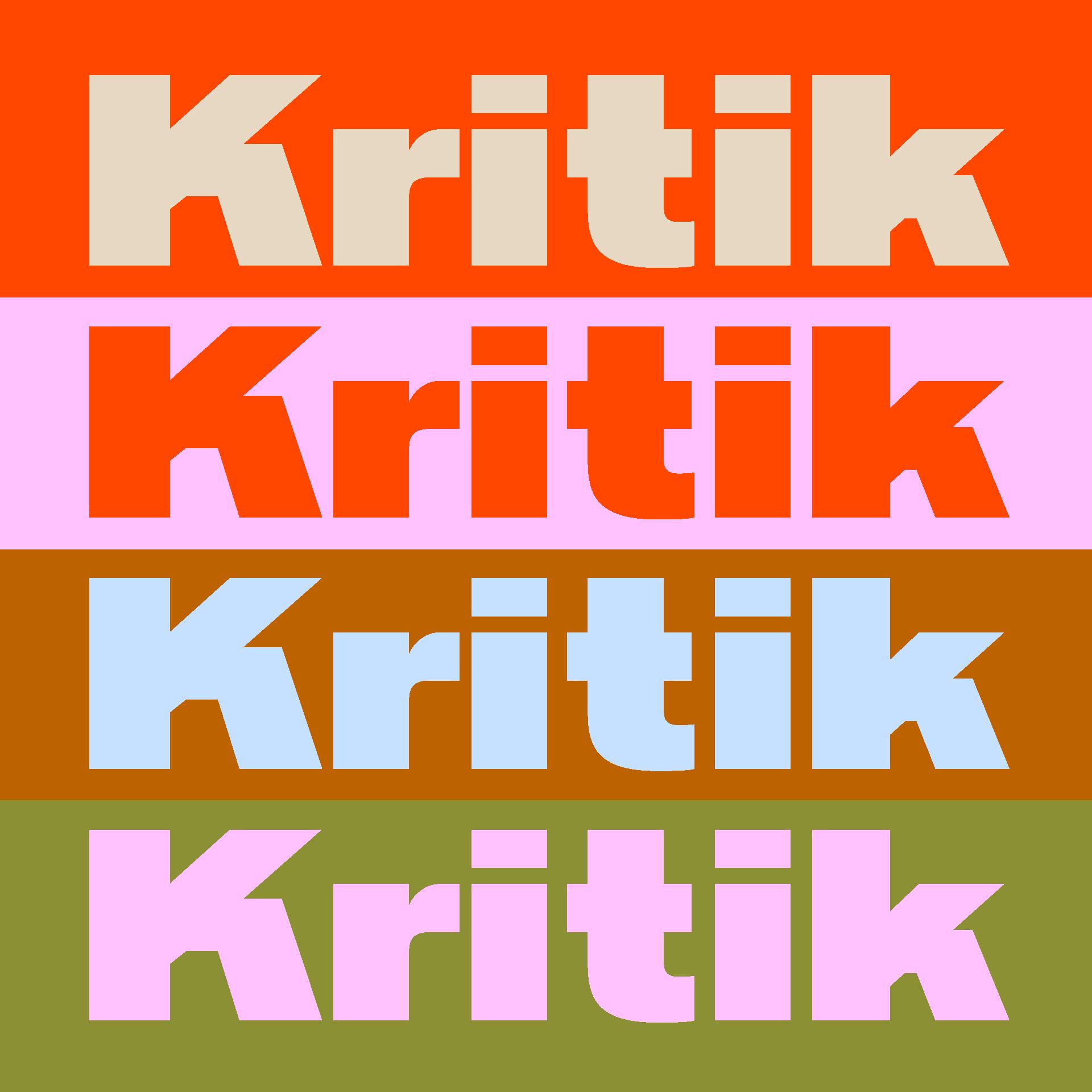 Kritik Typeface Overview