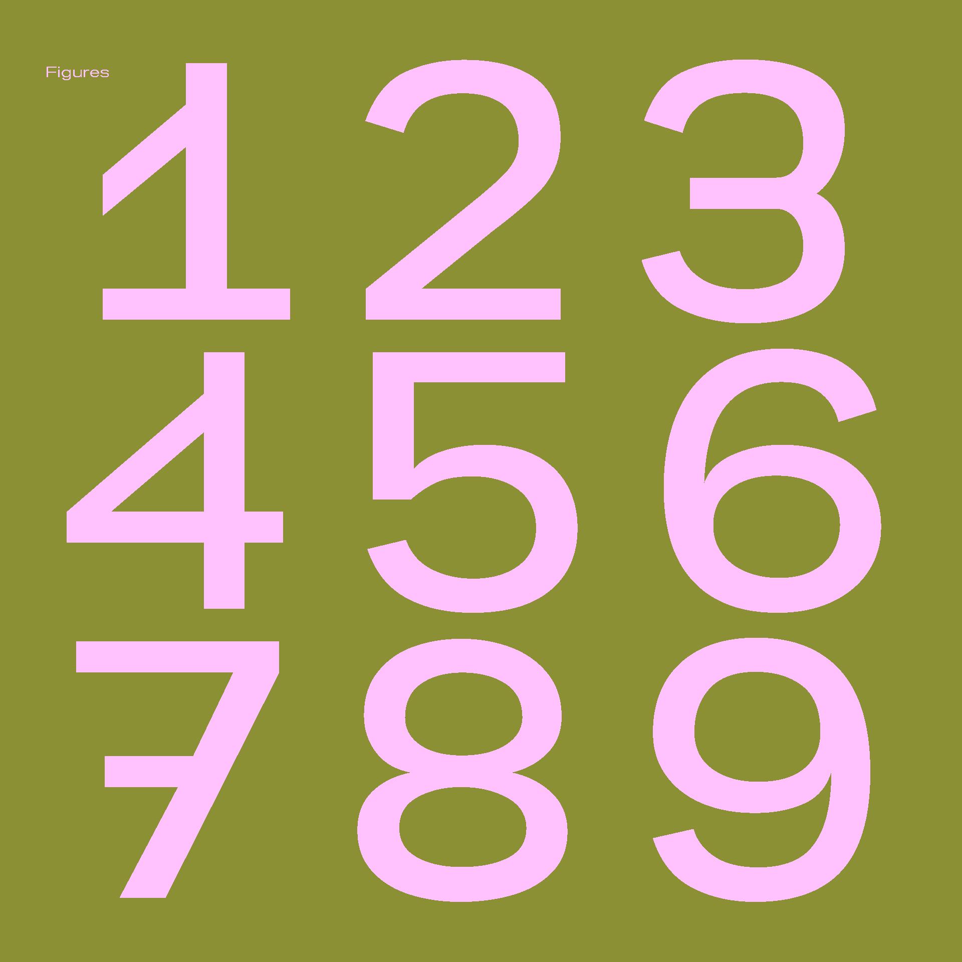 Kritik Typeface Figures