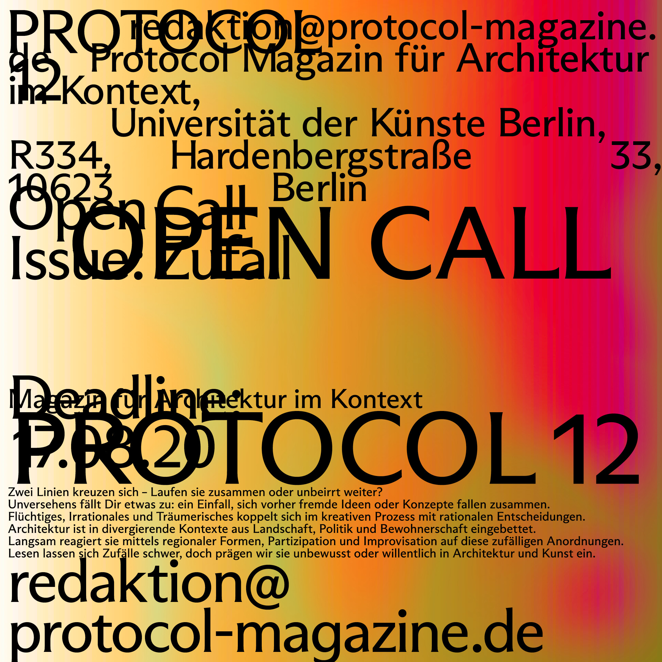 Protocol 12 Open Call